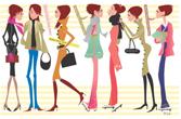 Rie Nakamura; イラスト「ファッション 女性 ポスター オシャレ お洒落」Rie Nakamura